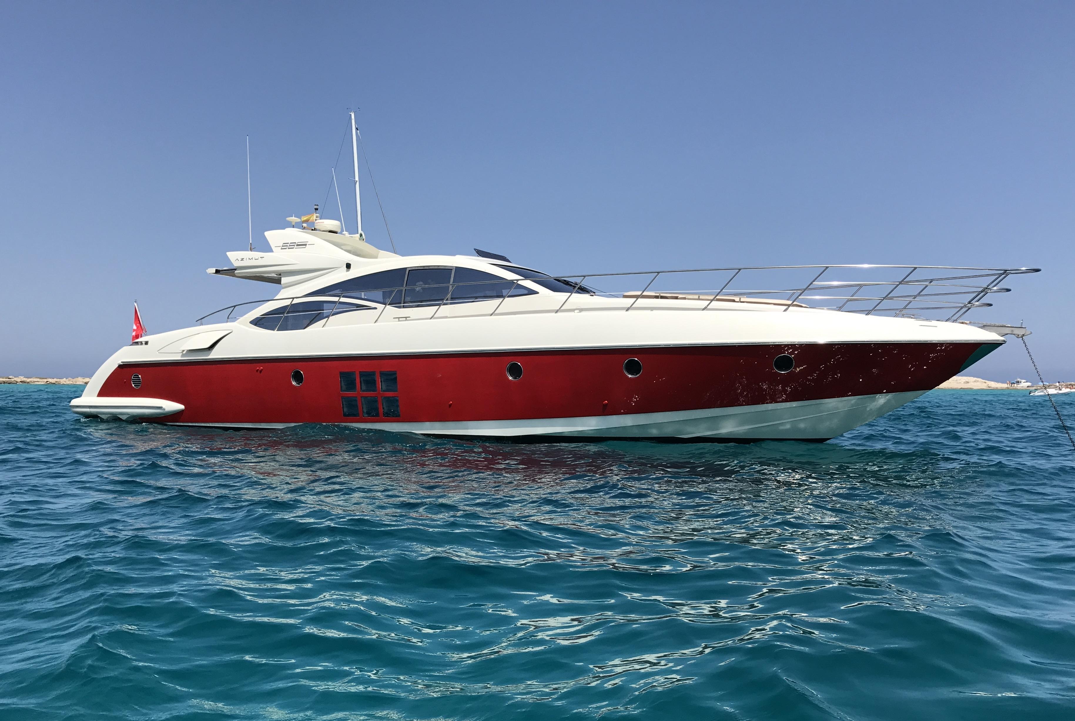 Alquiler de barcos en Ibiza Azimut 68s